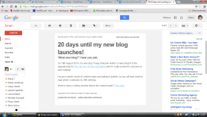 my mailing list newsletter