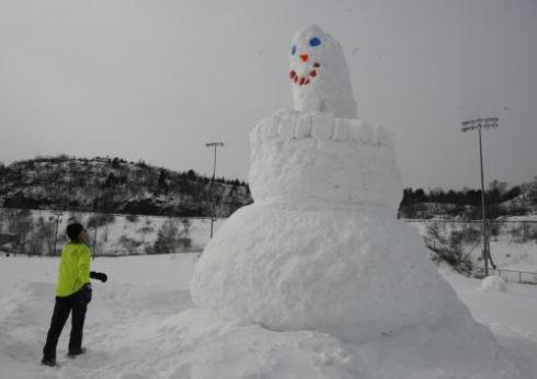 Chris Brake's monster snowman, Gerby