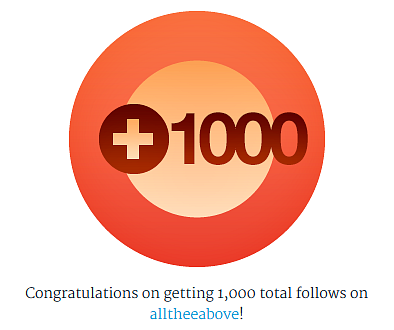 1000 followers on wordpress