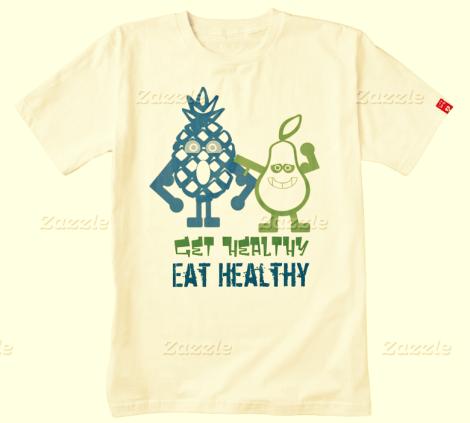 Fruitarian Eat Healthy Tee Zazzle HEART T-Shirt Zazzle 2016-03-15 03-45-53